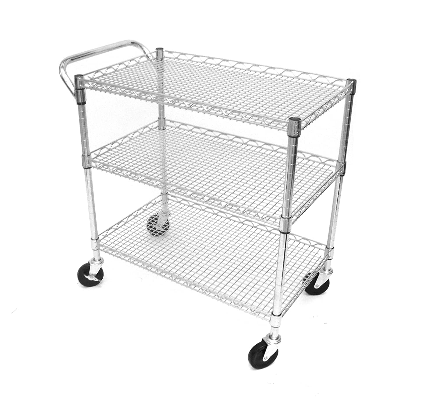 Seville Classics Heavy-Duty All-Purpose Utility Cart, 18 by 34 by 33-1/2-Inch: