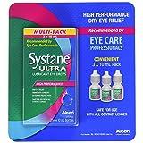 Systane Ultra Lubricant Eye Drops 3 Bottle, 10 ml Each (Tamaño: 1 Pk (3 Ct x 10ml))