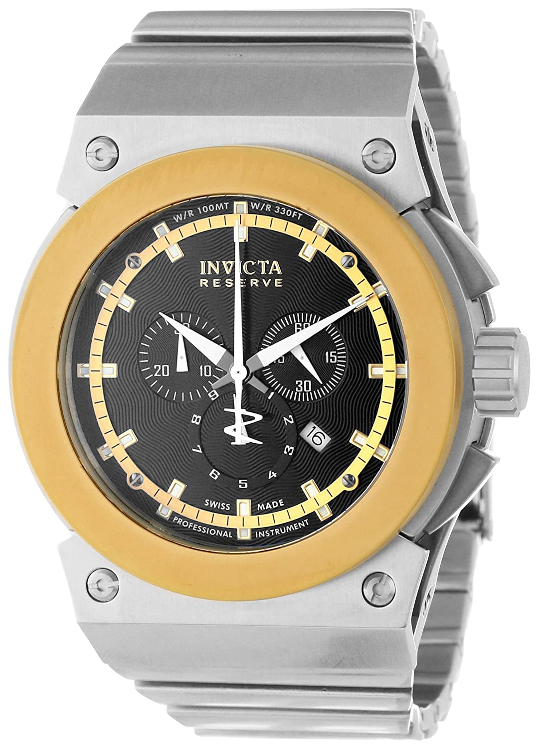 New mens invicta 11592 akula reserve swiss made chronograph black dial ss watch 886678115921 ebay for Swiss made watches