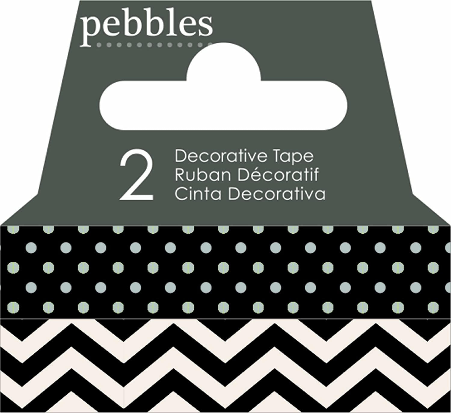 Pebbles Black Washi Tape