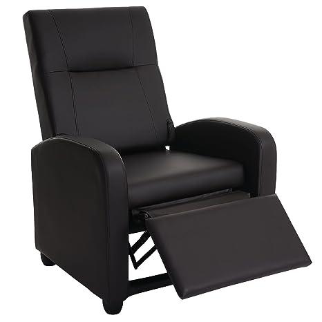 Fernsehsessel Denver Basic, Relaxsessel Relaxliege Sessel, Kunstleder ~ coffee
