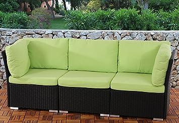Canap de jardin siena siena 3 places polyrotin pr - Salon de jardin modulable siena polyrotin ...