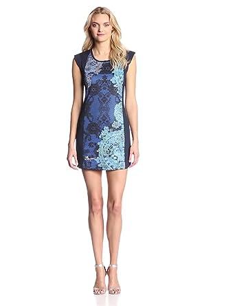Desigual Women's Gapur short Sleeves Dress, Navy, Large