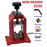 New Manual Copper Wire Stripping Machine Cable Wire Stripper Hand Crank Operated (Color: Red)