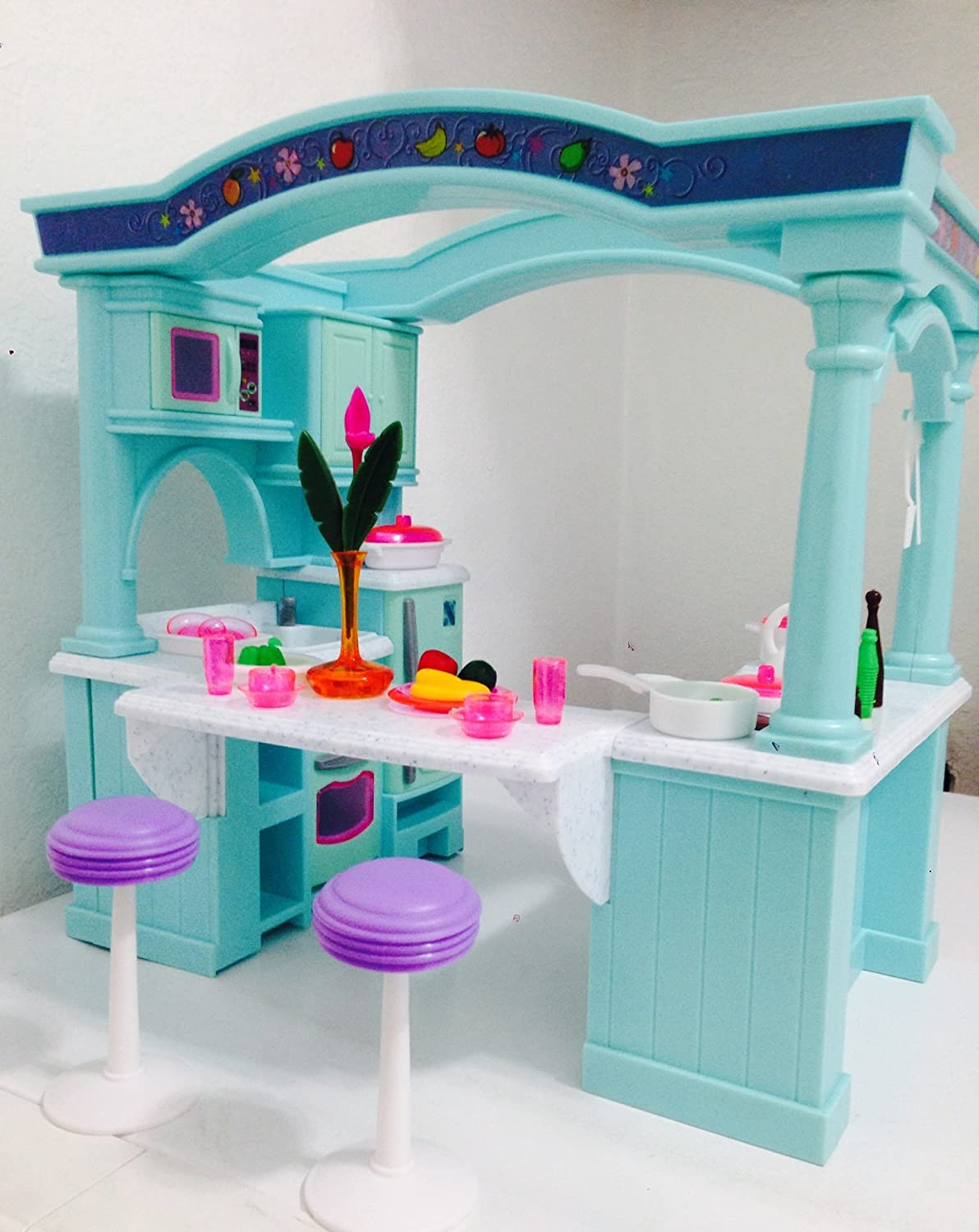Dollhouse Doll Furniture Barbie Size Room Playset Toy