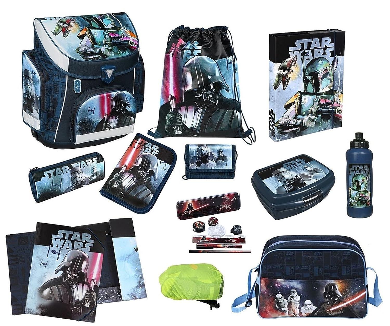 Star Wars Schulranzen Set 19lg. Sporttasche, Federmappe, Regen-/Sicherheitshülle Scooli SWHX8251 jetzt kaufen