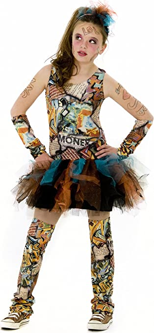 Tween Girl Graffiti Costume