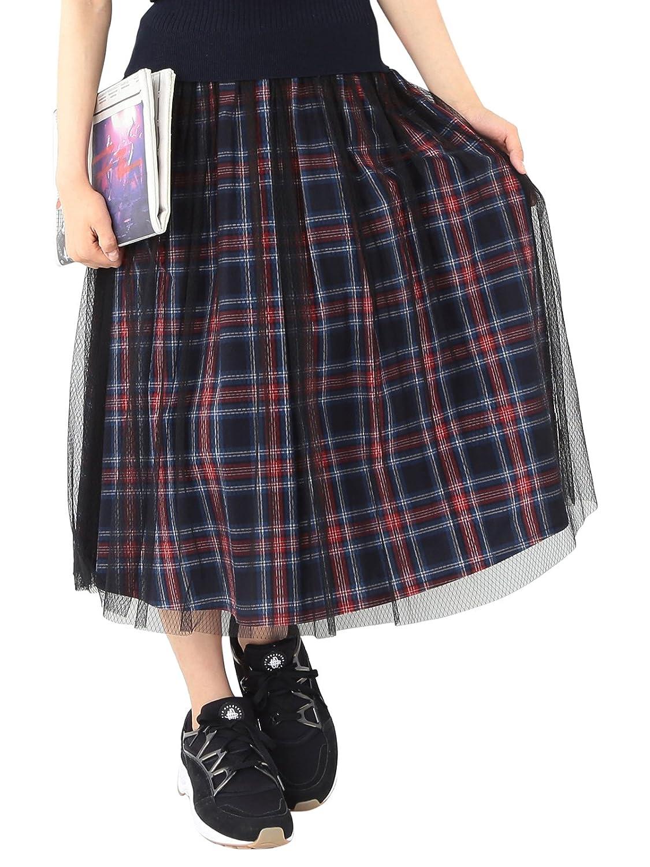 Amazon.co.jp: (レイビームス) Ray BEAMS / チェック チュールレイヤー スカート: 服&ファッション小物