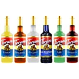 Torani Syrup, Assorted Summer Flavors, 750-ML (Pack of 6)