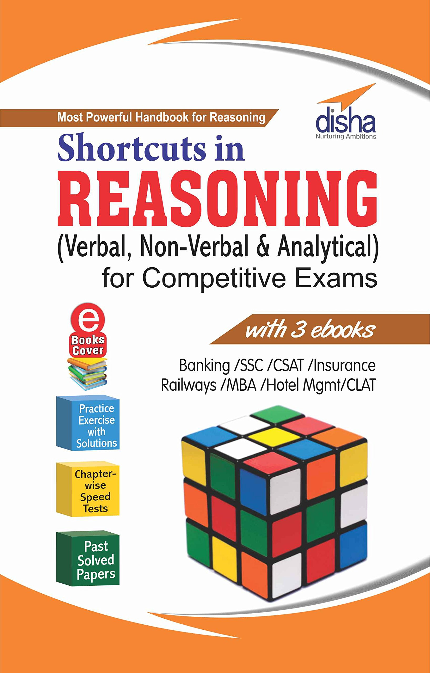 Shortcuts In Reasoning (verbal, Nonverbal & Analytical) Forpetitive  Exams With 3 Ebooks