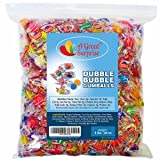 Dubble Bubble Gumballs - Dubble Bubble Gum - Double Bubble Gum - Gumballs Assorted Fruit Flavors, Individually Wrapped Bulk Candy 4 LB Party Bag, Family Size
