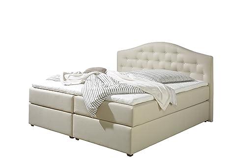 Maintal Betten 243824-3176 Boxspringbett Amber 100 x 200, inkl. Kaltschaum-Topper, Strukturstoff
