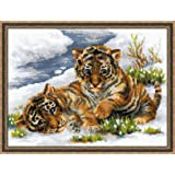 RIOLIS 1564 - Tiger Cubs in Snow- Counted Cross Stitch Kit 15.75
