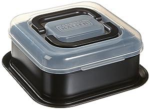 Kaiser Bake&Take - Molde para Bizcochos Cuadrado con Tapa para Transportar, 24 x 24 Centímetros   revisión y descripción más