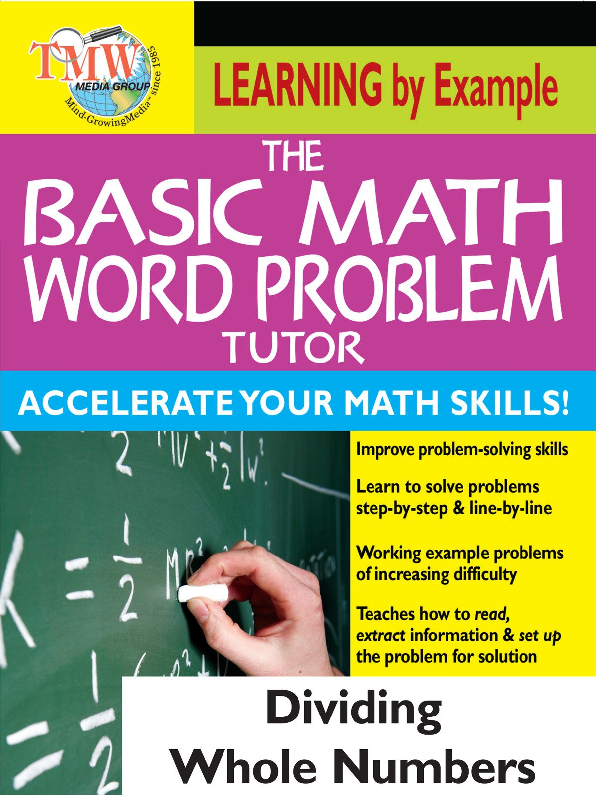Basic Math Word Problem Tutor: Dividing Whole Numbers