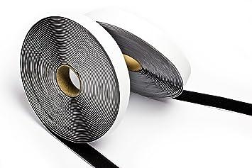 teilig 20 mm x 5 m 1,99 EUR pro m Klettband Rollen schwarz selbstklebend 2