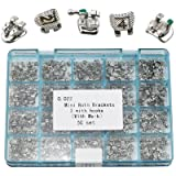 1000 pieces of Dental brackets Roth 0.022 Slot with 3 Hooks Orthodontic Metal Braces Mini Laser Marked
