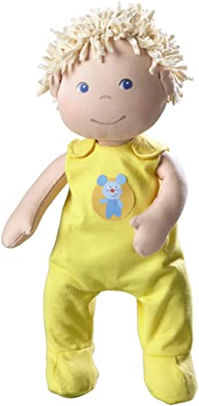 HABA La poupée bébé Fritzi théâtre de marionnettes, jaune