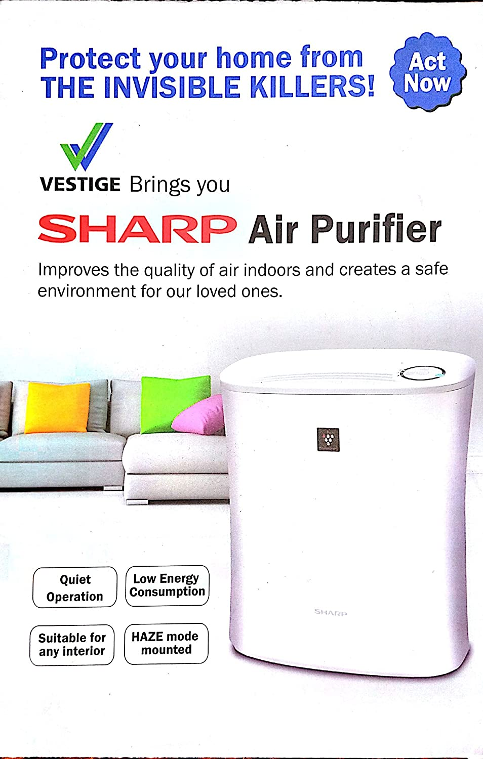 Vestige SHARP Air purifier (FP-F30E-H) for rooms