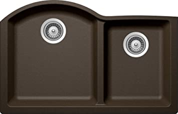 SCHOCK INPN175YU087 INSPIRE Series CRISTADUR 70/30 Undermount Double Bowl Kitchen Sink, Bronze