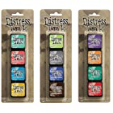Ranger Tim Holtz Distress Mini Ink Pad Kits - #13, 14 and #15 Bundle (Color: Limited edition)