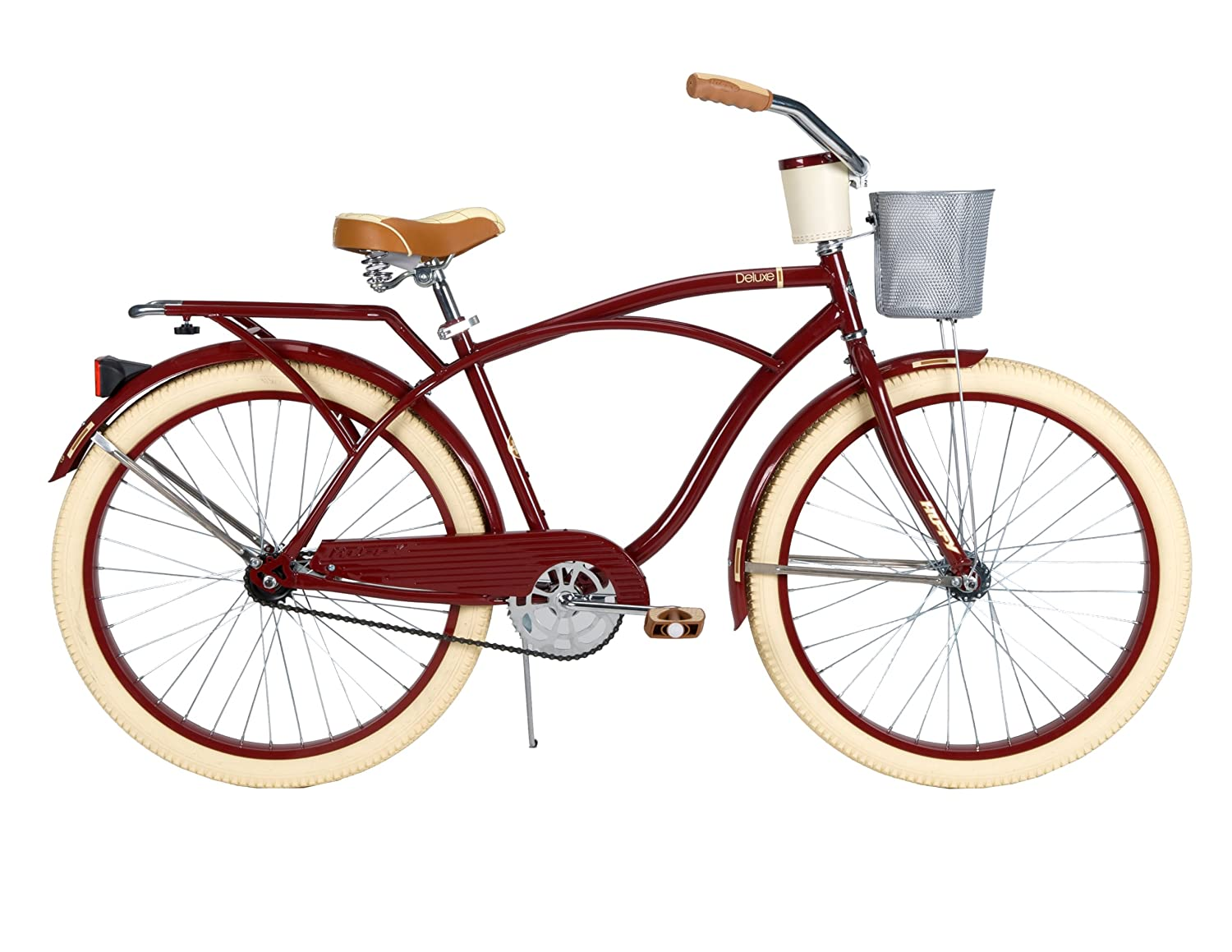 Cruiser Bikes With Basket Men s Cruiser Deluxe Bike