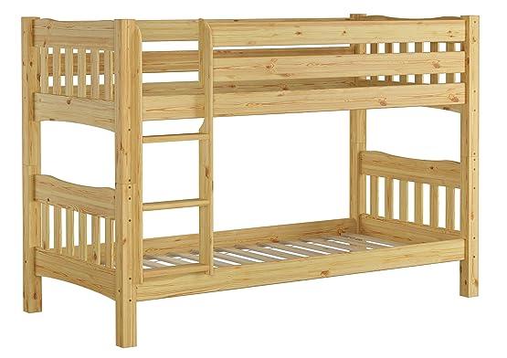 Letto castello 90x200 per ragazzi in Pino Eco divisibile con assi di legno 60.15-09 Ni70