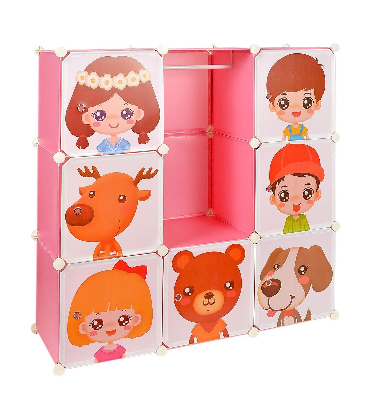 Kinder Kleiderschrank Garderoben Flur Schrank Badschrank Kinderschrank Pink günstig