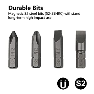 MulWark 3/8 Hand Drive Premium Reversible Manual Impact Driver Set- Hammer Screwdriver Kit with S2 Steel Impact Bits to Disengage Rusted Fasteners or Frozen Bolts| Flathead 5/16 3/8& Phillips #2#3