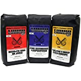 World's Strongest Coffee - Turbo Charged Coffee - 3 lbs - Variety Pack - 3 Strong Roasts … Race Pack (Dark Roast + Caramel Flavor), 3 x 16oz bags (Tamaño: 16 Ounce (Pack of 3))