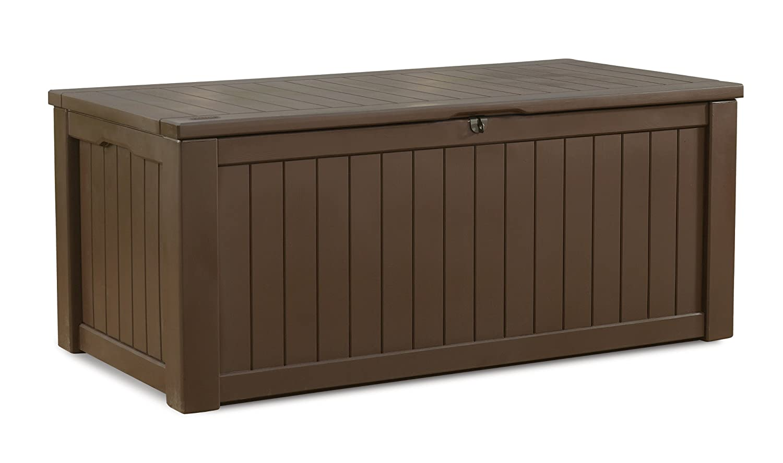 Keter 17190202 Kissenbox Jumbo Storage Box 570 L Holzoptik, Kunststoff, braun jetzt kaufen