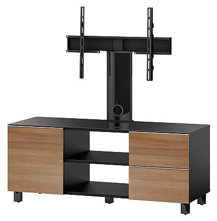 Accord TRN3110 B-BLK Sonorous TV-Möbel fur 50 Zoll Fernseher, Holz, schwarz, 45 x 120 x 45 cm