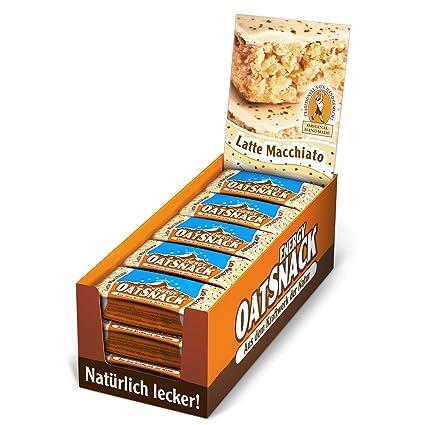 Davina Energy OatSnack, naturliche Riegel - von Hand gemacht, Latte Macchiato, 30x65g, 1er Pack (1 x 1,95kg)