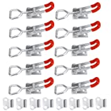 Anndason Toggle Latch Clamp 4001,150Kg 330Lbs Holding Capacity (10PCS) (Color: Silver)