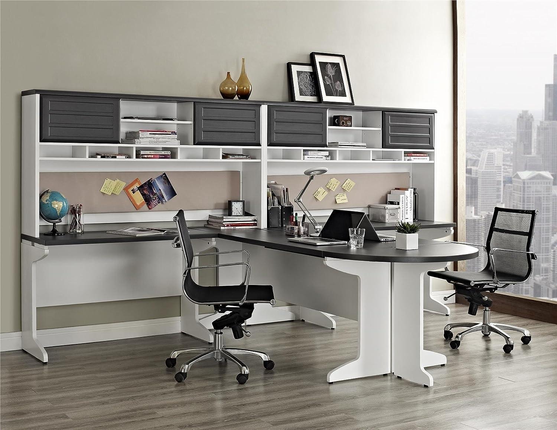 Office Set Executive Desk Hutch File Cabinet U Space
