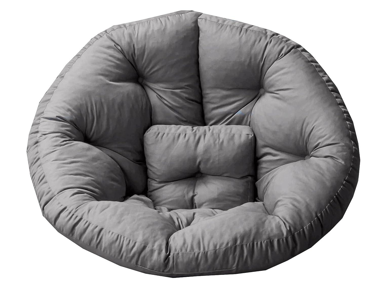 GARDENho.me Magic Seat OCTOPUS Strandgut07 Sitzmuschel, Sitzsack Outdoor XL, Grau, ca. 195 cm