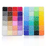 ARTKAL SOFT Mini Beads A 2.6mm 24,000 Fuse Beads 48 Colors Assorted in 2 Boxes CA48 (IT'S MINI BEADS NOT STANDARD MIDI BEADS) (Color: base colors, Tamaño: 2.6MM*3MM)