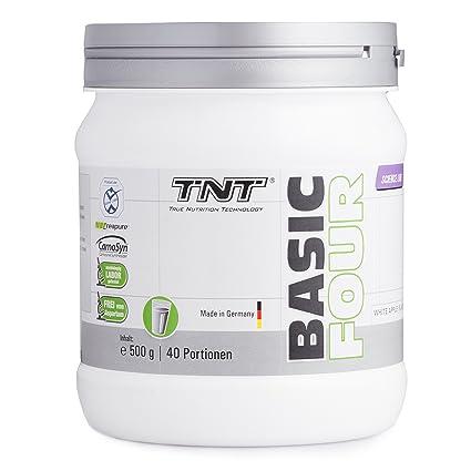 TNT Basic Four Booster Fitness - Mit Creatine Monohydrate Creapure™, Beta-Alanin CarnoSyn®, L-Tyrosin und Koffein fur mehr Energy - 500g Dose