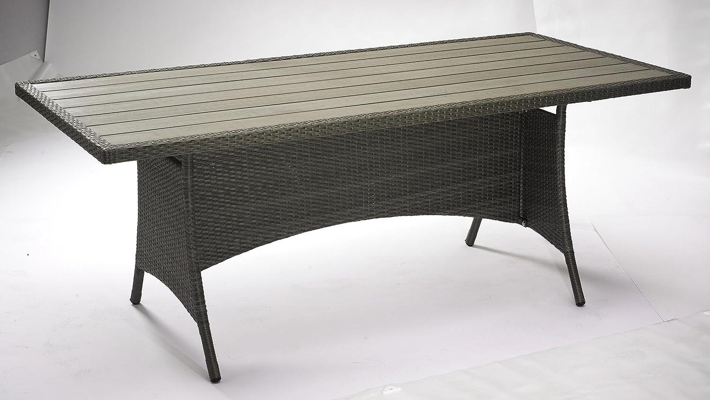 """Poly Rattan Gartentisch """"Suzy"""" mit Polywood Tischplatte 190×90 cm jetzt bestellen"""