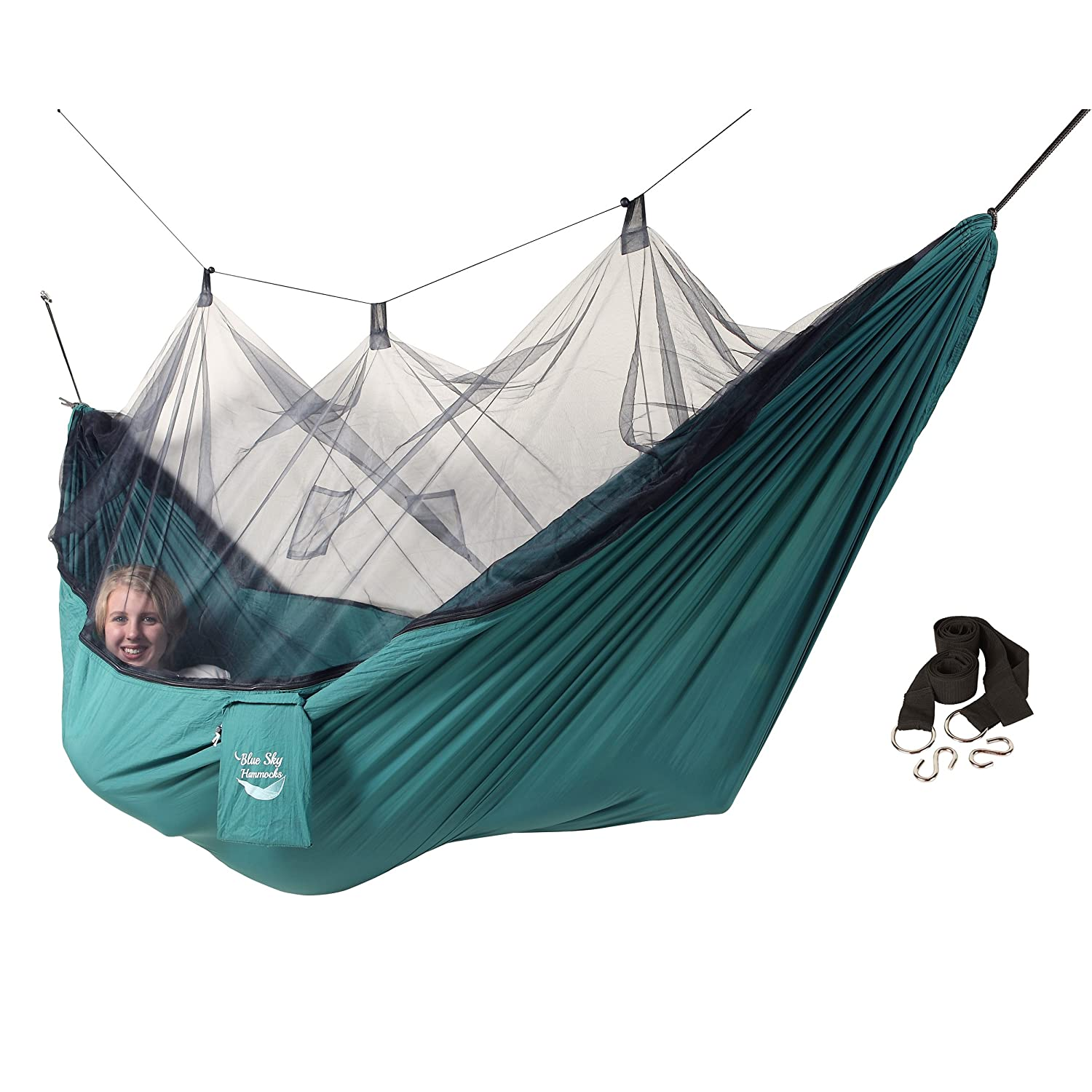 New mosquito net camping hammock portable outdoor travel for Net hammock bed