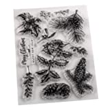 5 Sheets Silicone Clear Stamps Sea for lCards Making DIY Scrapbooking Photo Card,Christmas Theme,Wish (Color: Style 6)