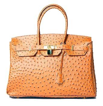 d6d3e5553a4f8 hot hot hot Sale Beautiful Italian Leather Tan Ostrich Pattern ...