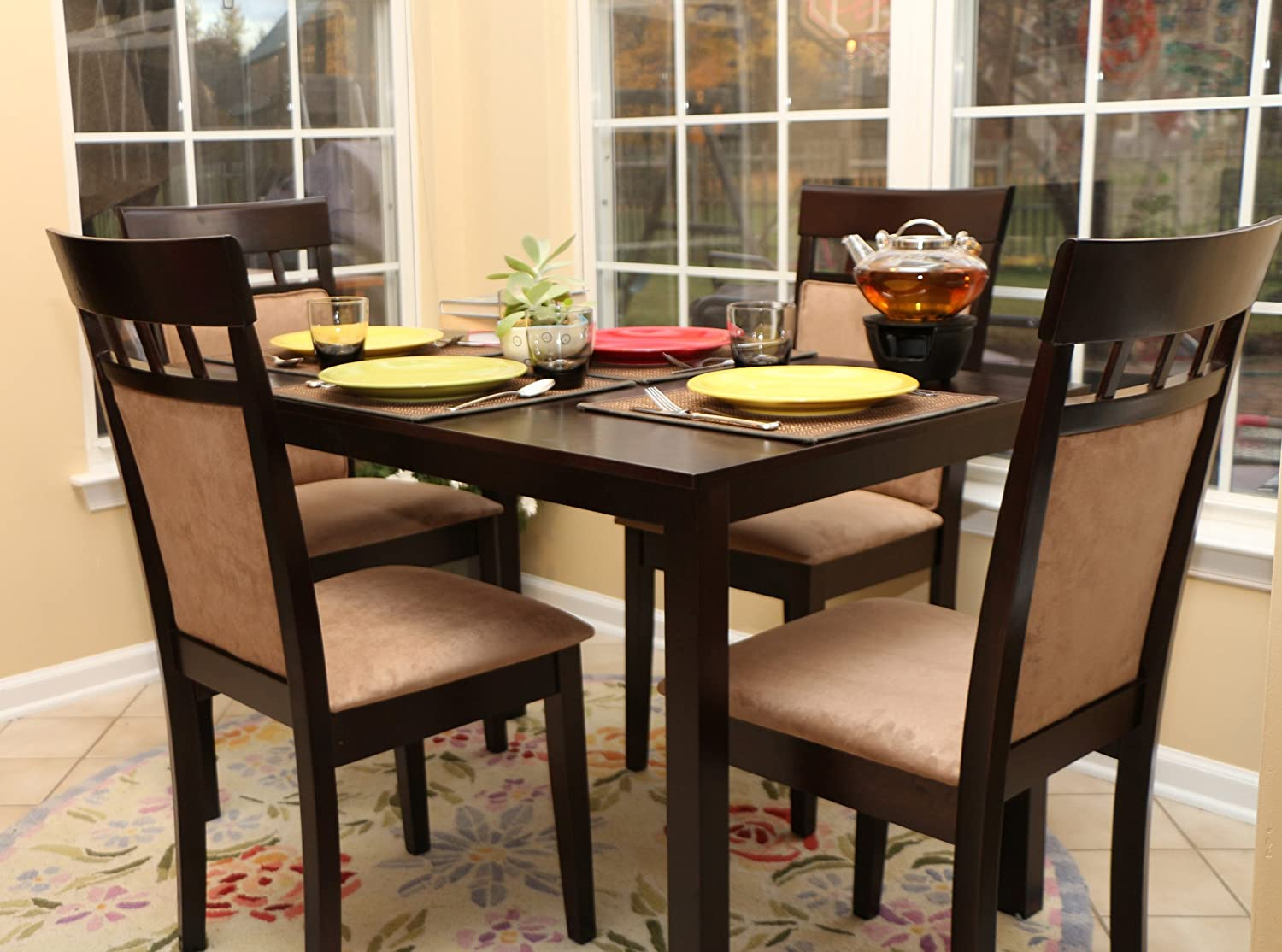 kitchen dinette table dining room dark wood finish