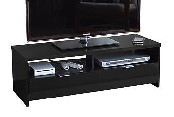 Berlioz Banco - Mueble para TV (aglomerado de madera), color negro