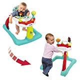 Kolcraft Tiny Steps 2-in-1 Activity Walker -Seated or Walk-Behind Position, Easy to Fold, Adjustable Seat Height, Fun Toys & Activities for Baby, Jubliee