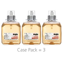 GOJO 5162-03 1250 mL Luxury Foam Antibacterial Handwash (Case of 3)