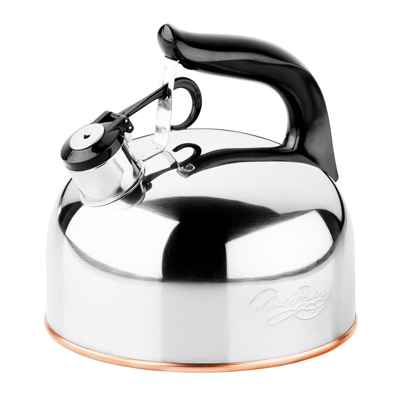Whistling Tea Kettle ~ Revere quart whistling tea kettle new free