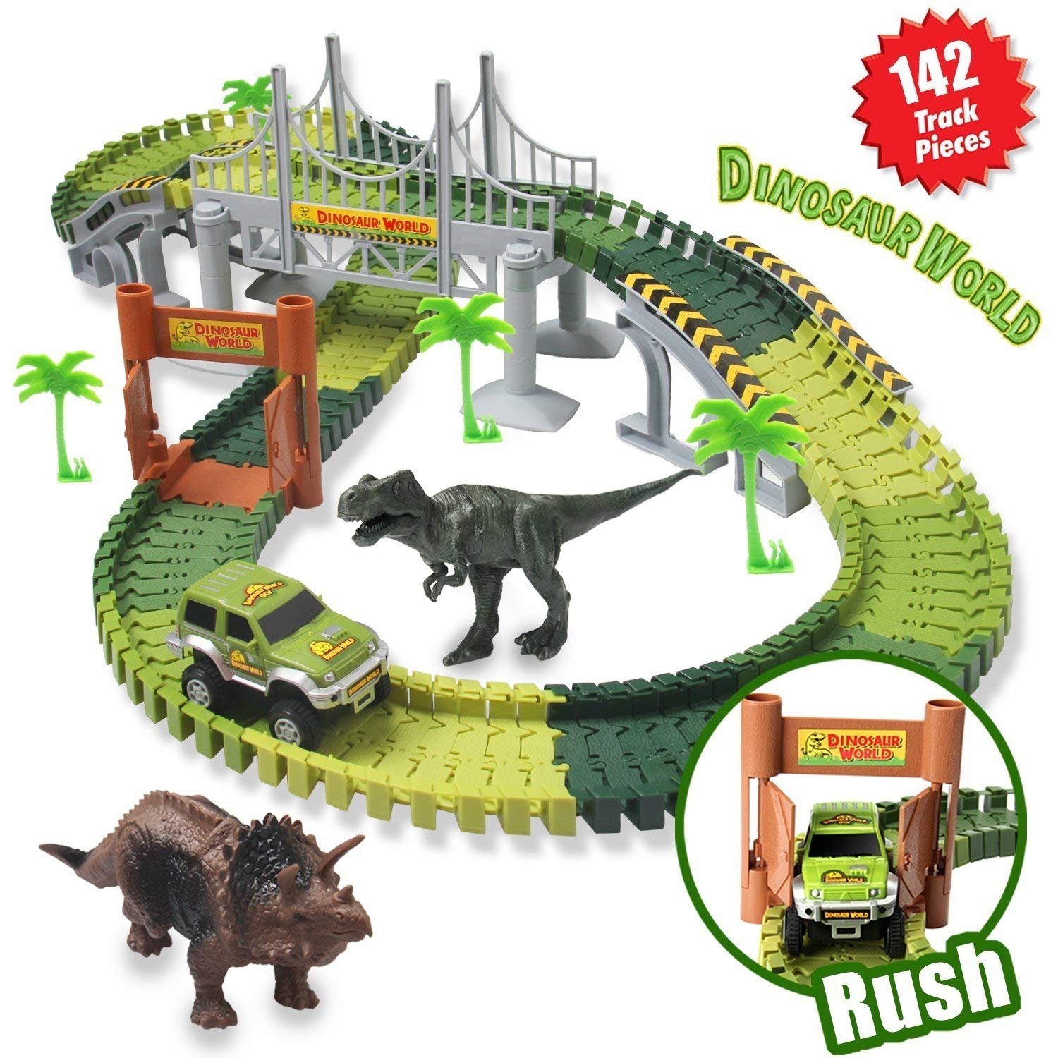 Dinosaur Slot Car Race