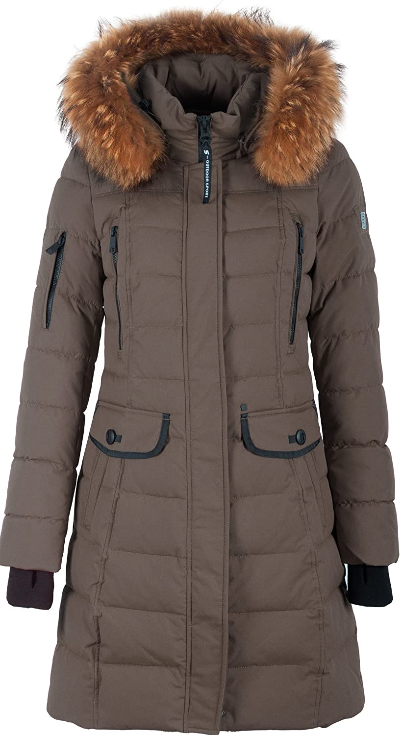 SI-V304 Damen Winterjacke Parka in Daunen-Optik