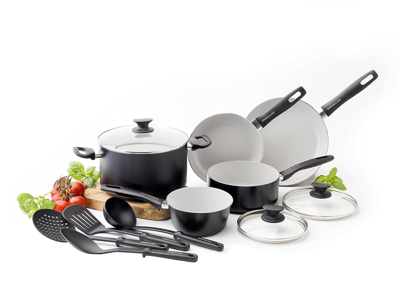 Greenlife Everyday Value 12pc Cookware Set Black Ebay